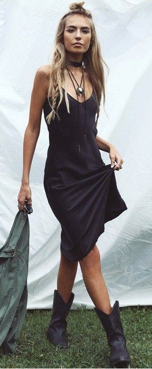 midi cami dress. boho style.                                                                                                                                                                                 More