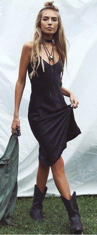 Midi Cami Dress Boho Style
