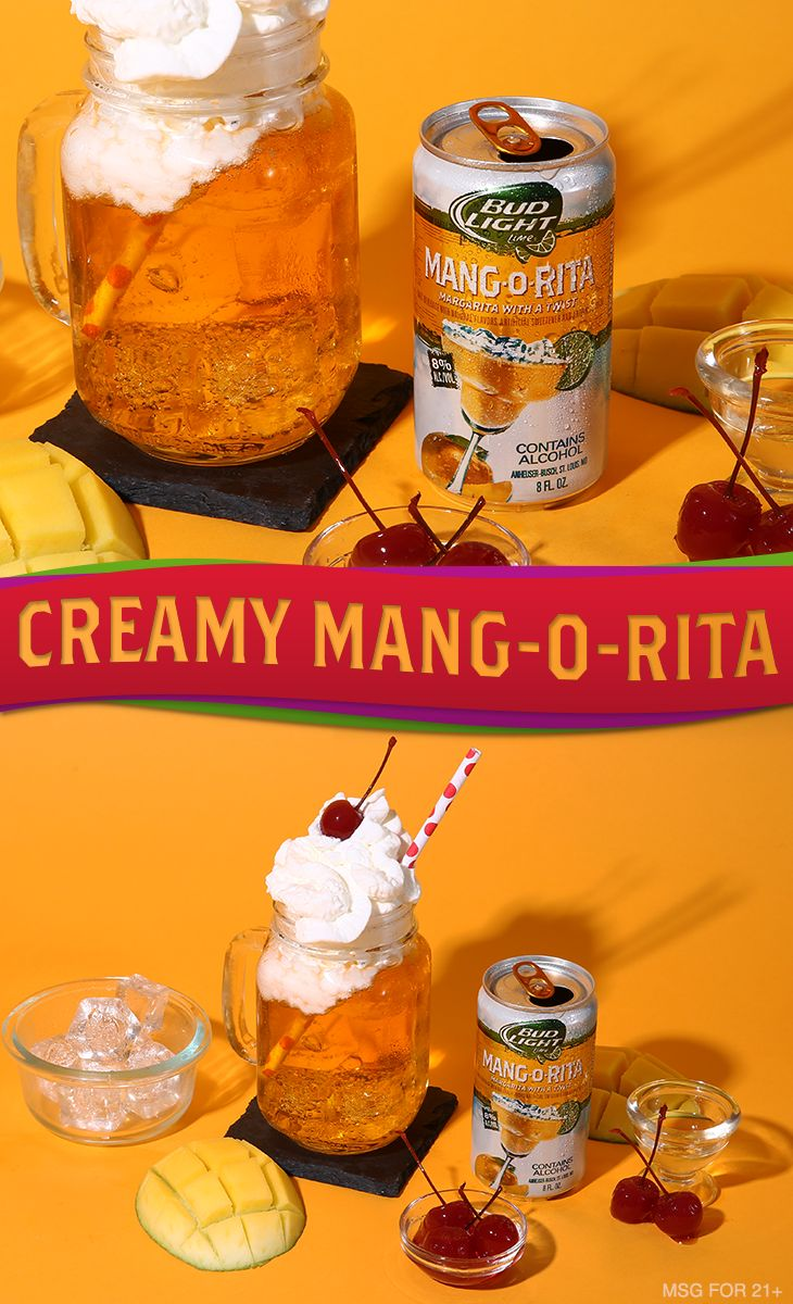 A little fruit, some whipped cream and hazelnut syrup is all you need to make this easy homemade drink recipe.    Ingredients:  6 oz Mang-O-Rita 1 oz Hazelnut Syrup Whipped Cream   Garnish:  Cherry  Directions 1. Pour Mang-O-Rita over ice in a cocktail glass.  2. Add a dash of hazelnut syrup.  3. Top with whipped cream and a cherry.