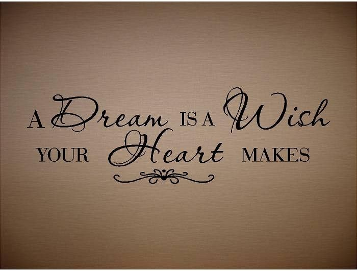 Heart Tattoo | Quote-A Dream Is A Wish Your Heart Makes-Special buy any 2 quotes and ...