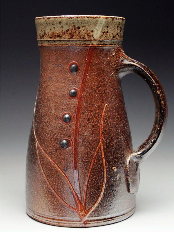 "Alex Matisse Pottery, at MudFire Gallery 7"" x 4.25"" x 4.25 salt-glazed, wood fired stoneware"