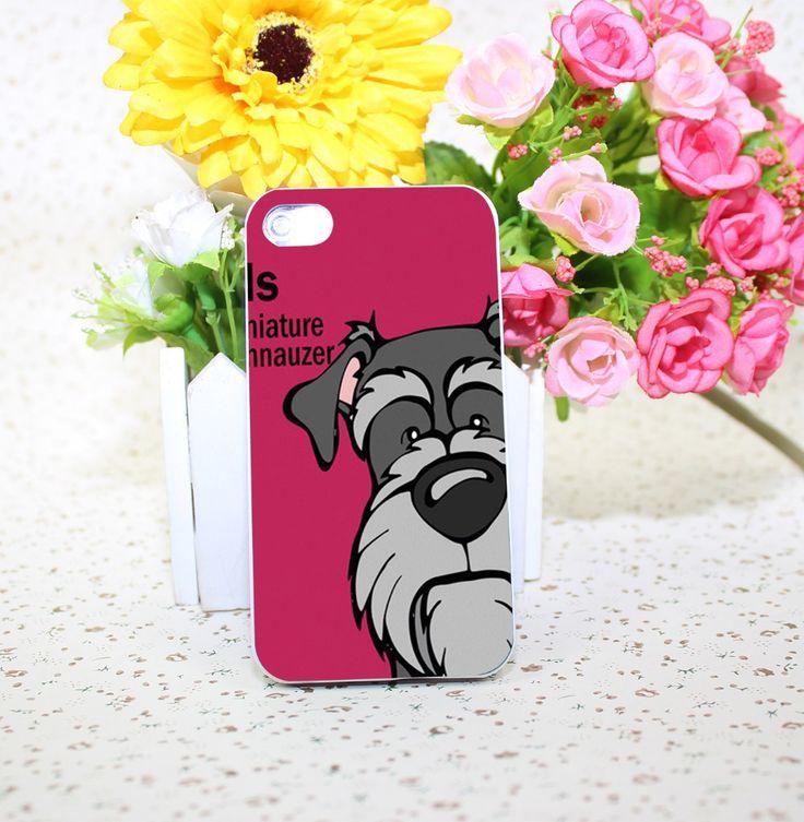 Capa 40201A Schnauzer miniatura 39, estilo de impressão de telefone duro branco para o iPhone 5 5S 4 4S 5c 6 6 s Plus casos(China (Mainland))