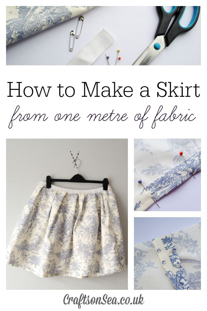 Follow this simple tutorial on how to make a skirt from one meter of fabric and make a cute garment that you'll love! Will work with one yard of fabric too!