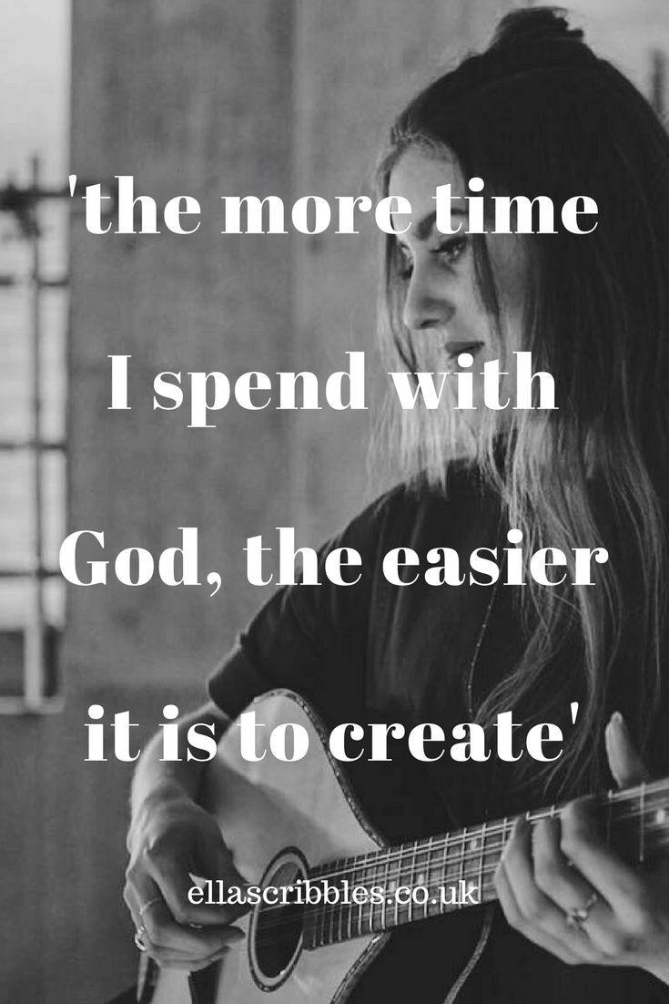 I've found the more time I spend with God the easier it is to create. Creative inspiration with Bethany key, singer songwriter  from Wildwood Kin.