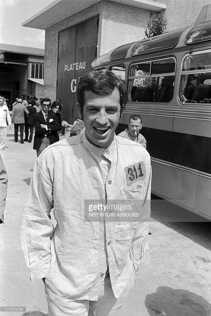 shooting 'LE CERVEAU' by GERARD OURY - Jean-Paul Belmondo in France on July 08, 1968