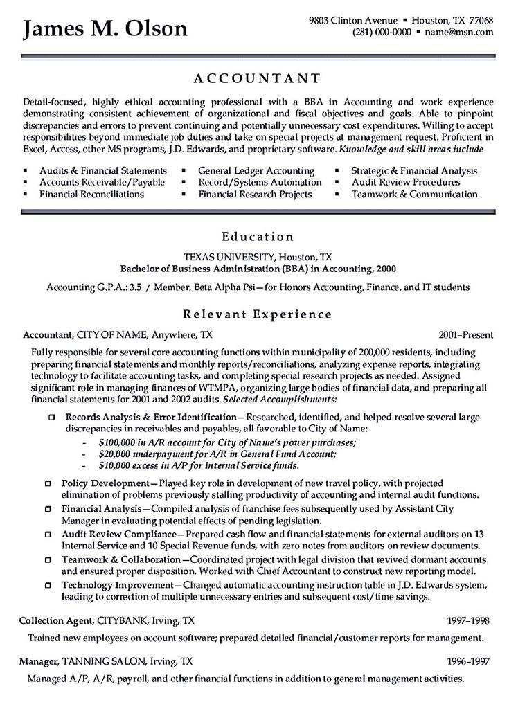 Writing accountant resume sample is not that complicated