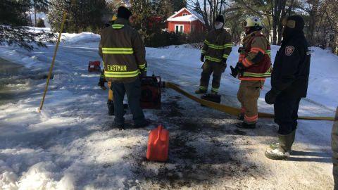 Les pompiers d'Eastman ont été bien occupés au cours des dernières heures.