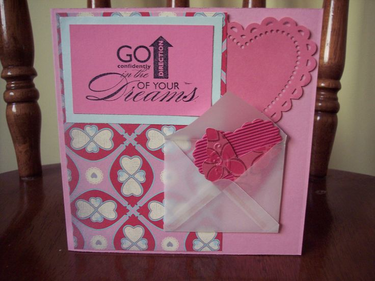 Look in the envelope - add some cute punched shapes.