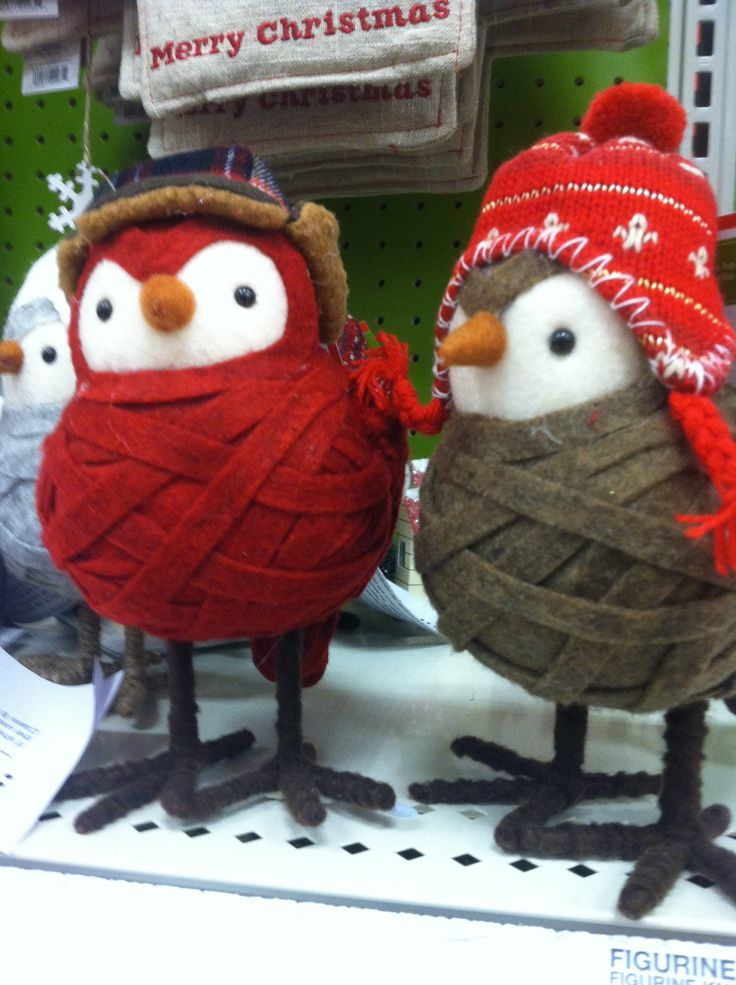 Cute winter birds from Target. #decor #christmas #shopping
