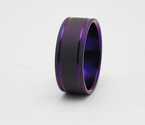 SALE: Size 11US 9mm wide Titanium ring with by PeacefieldTitanium