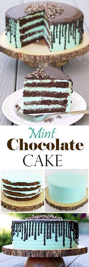 Minze Schokoladenkuchen – Valya Geschmack von zu Hause