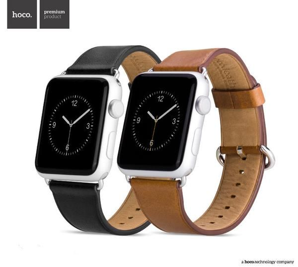 Classic Buckle Calf Leather Band for Apple Watch-Brown