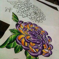 crisantemo tattoo pesquisa google mais crisantemo tattoo tattoo ...