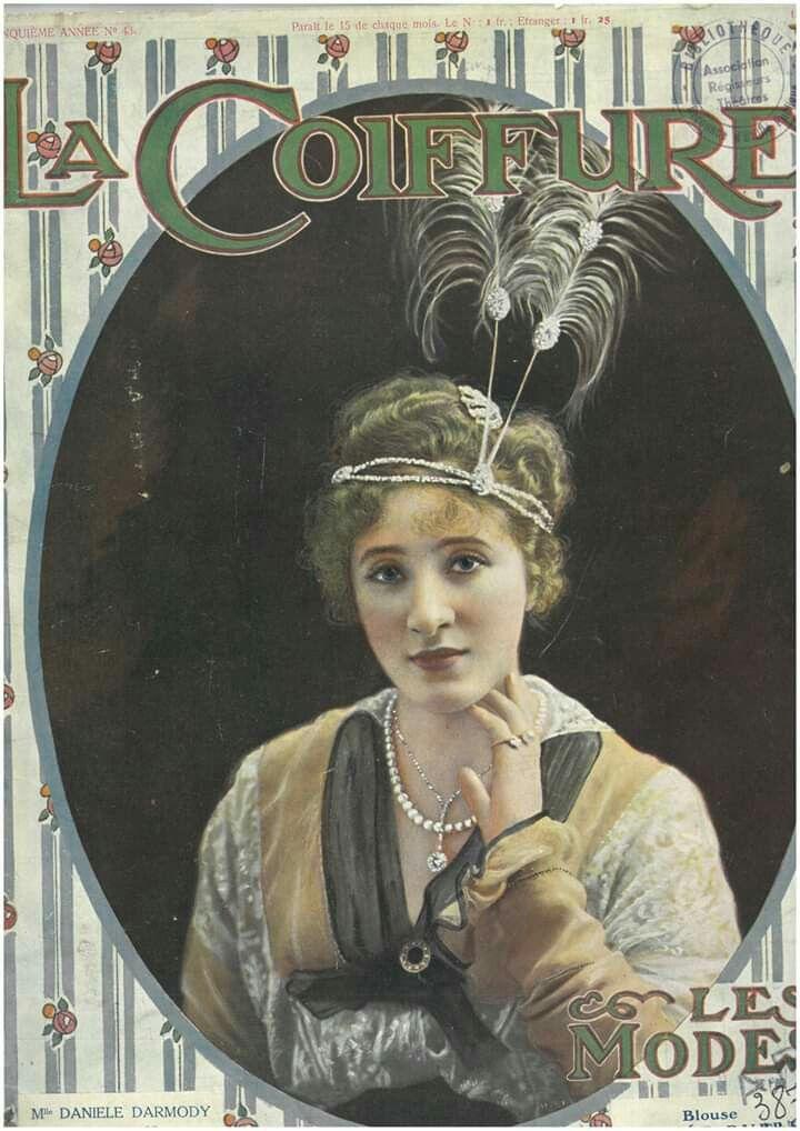 La Coiffure Illustration Art Illustration Vintage Magazine