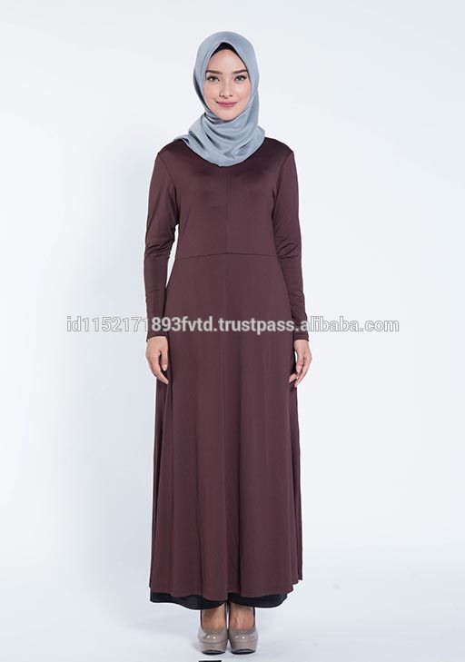 Hot 2017 Dress Elzatta Gamia Adela (Nursing Wear) Dark Brown Hijab For The World