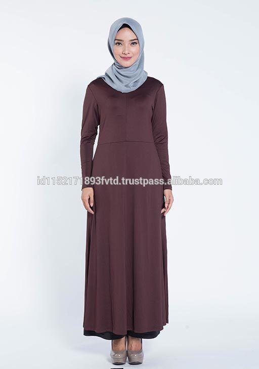 Hot 2017 Dress Elzatta Gamia Adela (Nursing Wear) Dark Brown Hijab For The World