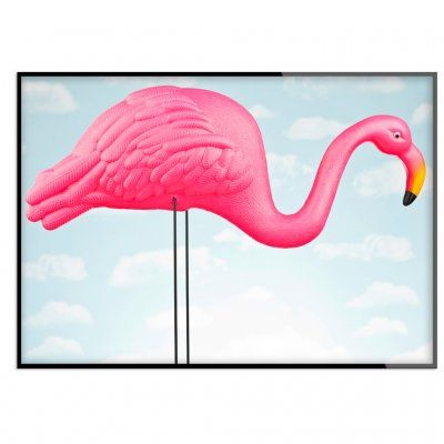 Poster+-+Flamingo+in+the+blue