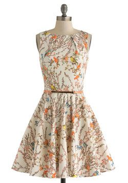 Luck Be a Lady Dress in Bird Song, #ModCloth