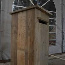 Afbeeldingsresultaat voor houten brievenbus zelf maken