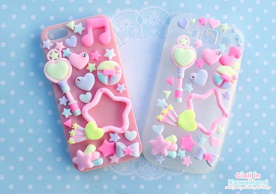 Items similar to Super kawaii and pastel Creamy mami inspired decoden case for ALL mobile phone on Etsy