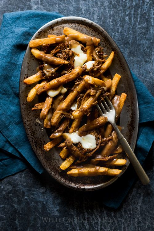 Pulled Pork Poutine inspired from our trip to Fairmont Le Chateau Frontenac | @whiteonrice