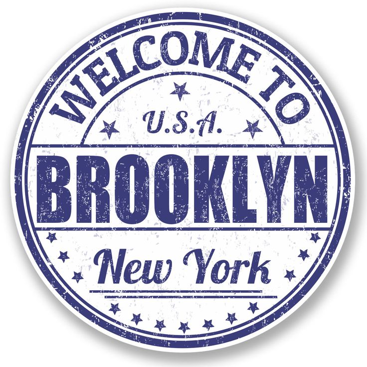 2 X 10Cm Brooklyn York Usa Vinyl Sticker Ipad Laptop