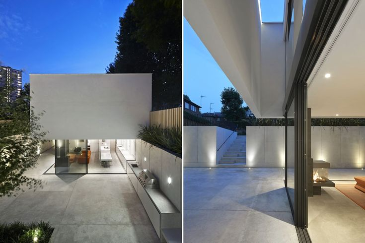 De Matos Ryan has completed The Garden House, a new 179 sqm house at the far end of the rear garden of a Victorian house in Battersea, London: a box with an exotic sensibility defined by white pigmented concrete walls and floor.