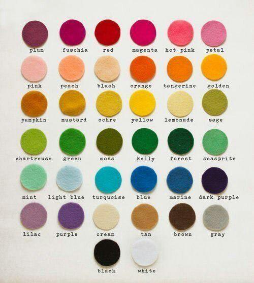 English vocabulary - Colours