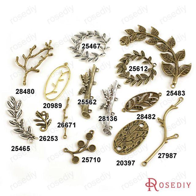 ( 20989 ) оптовая продажа ветви дерева листья шармов Diy ювелирных изделий аксессуары больше стилей могут взял