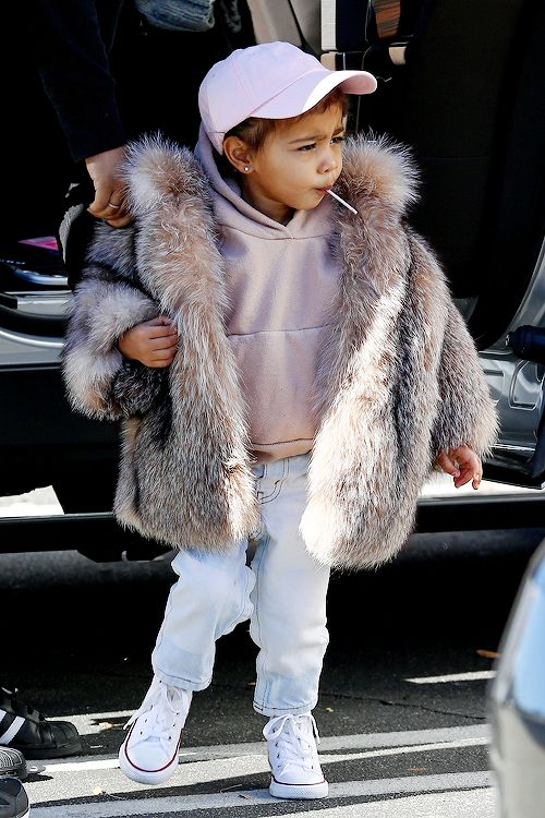 celebritiesofcolor:  North West out for a play date at Glow Zone in Woodland Hills