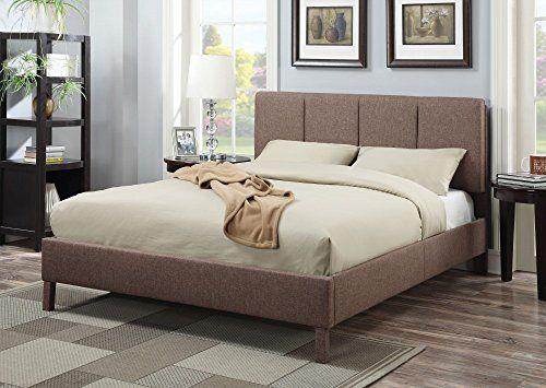 Best Simple Relax 1Perfectchoice Light Brown Queen Platform Bed 400 x 300
