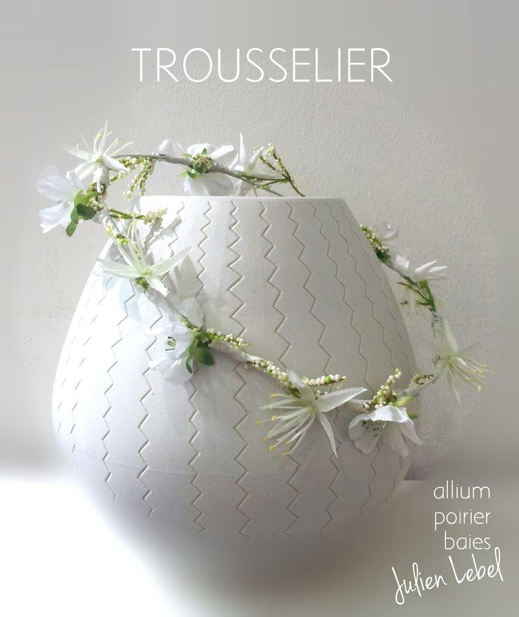 couronne de fleurs artificielles trousselier