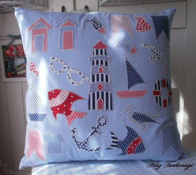 Sewing pillow. Summer...