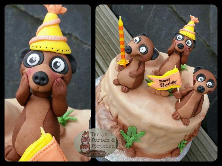 Meerkats Erdmännchen Fondant Cake Birthday