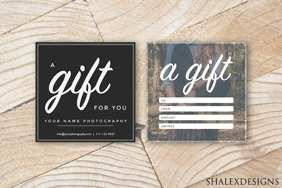 Square Gift Certificate Template. Creative Card Templates