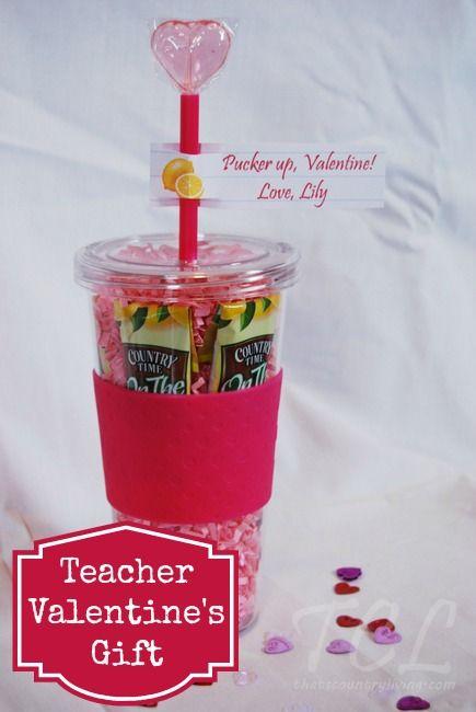 Teacher valentine 39 s day gift idea drink tumbler tumbler for Cute valentines day present