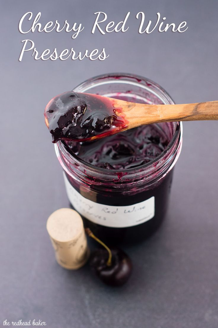 Cherry red wine preserves combine sweet cherries and malbec red wine in a delicious condiment that you won't find in any grocery store!