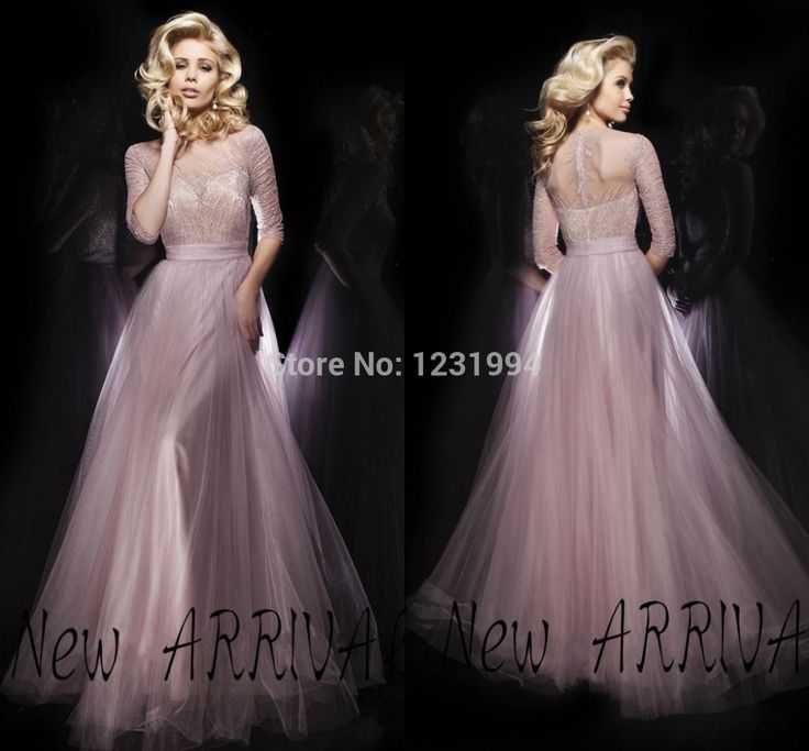 Elegant Upscale Quality Sheer O neck With Long Sleeves A line Long Formal Dress Shiny Beading Chiffon Modest Evening Dresses-in Evening Dresses from Apparel & Accessories on Aliexpress.com   Alibaba Group