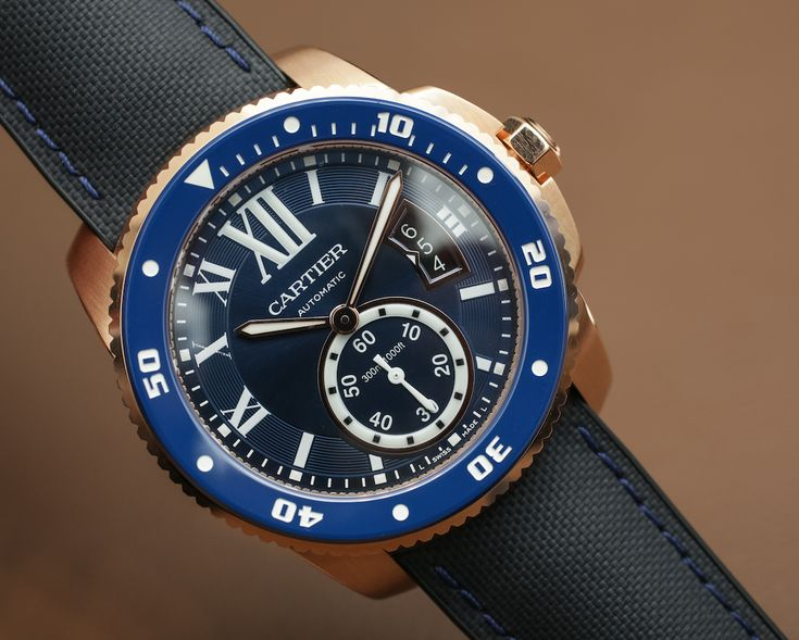 """Cartier Calibre De Cartier Diver Blue Watch Hands-On - by James Stacey - More on this dressy diver at: aBlogtoWatch.com - """"Continuing the watch design trend of 'more blue is better,' Cartier showed a blued version of their Calibre De Cartier Diver at SIHH earlier this year. As with many of its peers, this simple color swap manages to impart this rather dressy Cartier diver with an appeal distinct from that of the original..."""""""