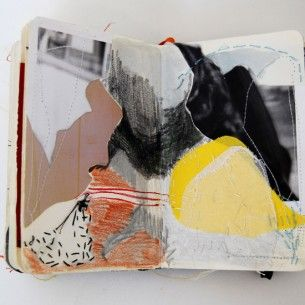 """Alison Worman: """"I am interested in the way that collage, fabric and sewing techniques can be applied to the form of the book..."""""""