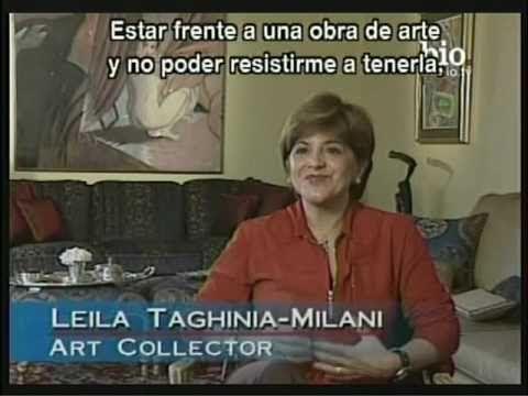 Leila Taghina-Milani, art collector