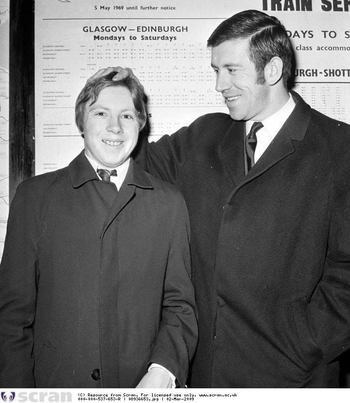 Iain McDonald with captain John Greig 1970