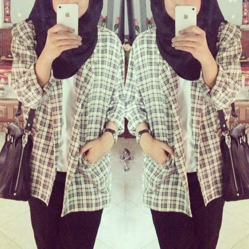 Plaid. #hijab