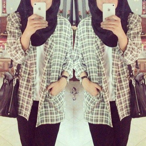Plaid. #hijab