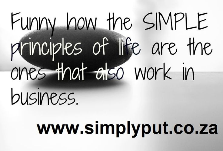 Let SIMPLICITY prevail.