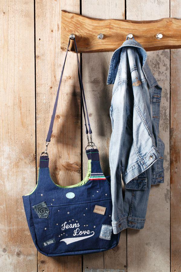 Jeans tas met clamshells