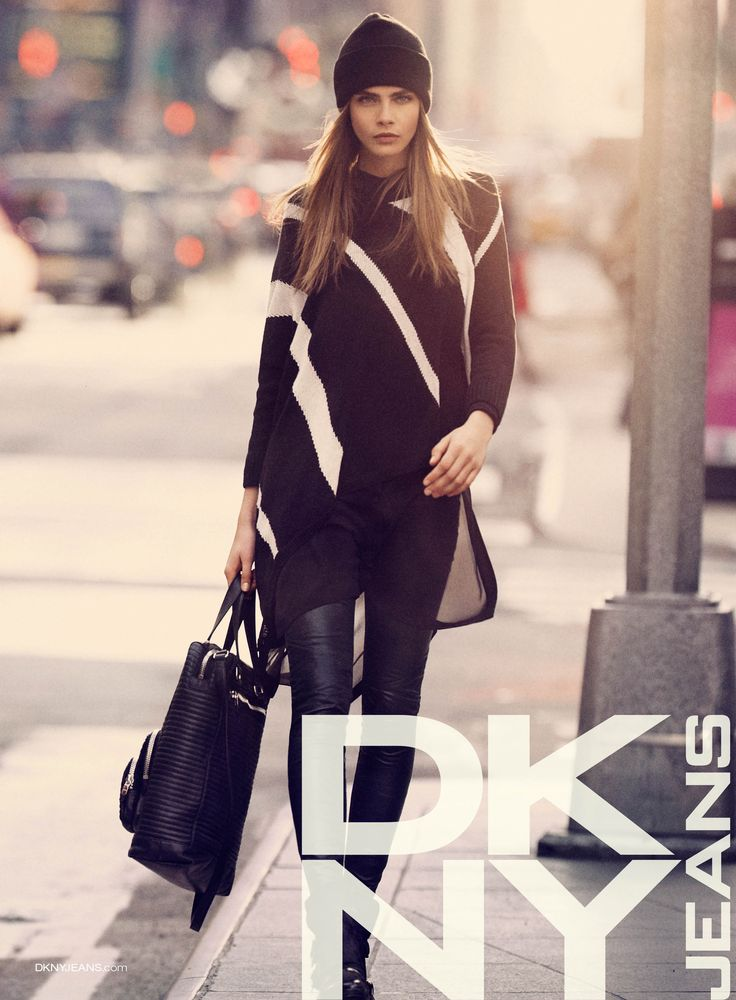 cara delevingne in dkny jeans fall 2013 ad