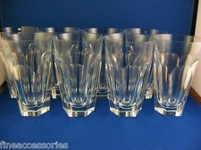 Set of 8 Vintage Moser Cromwell Hiballs Tumblers compatible with Lady Hamilton