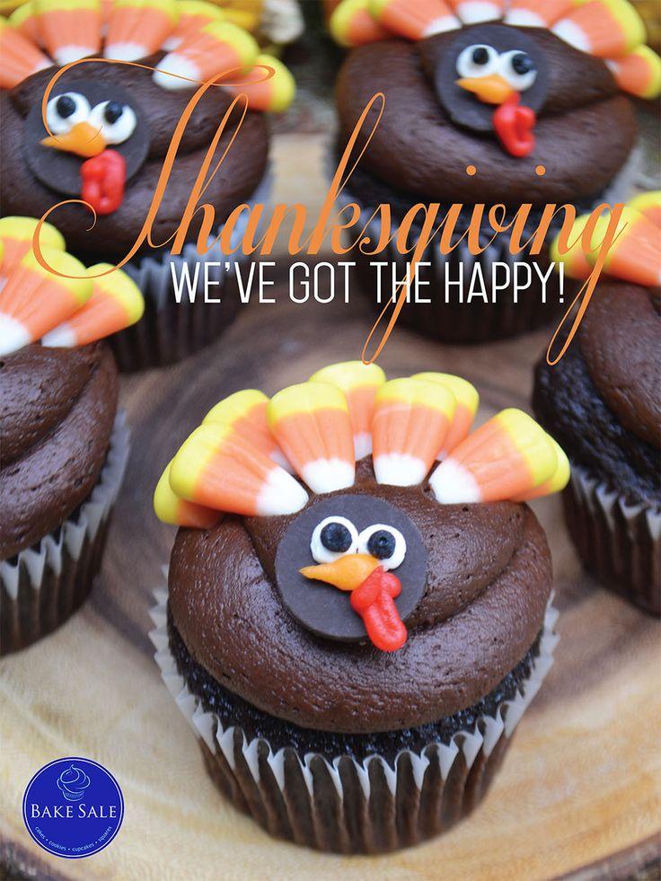 Happy Thanksgiving Turkey Cupcake Bakery Poster. By Bake Sale Toronto