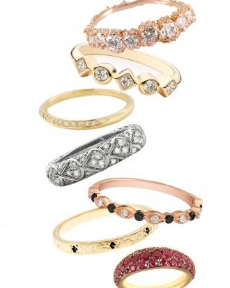 """my rose gold ANEMONE eternity ring featured in Martha Stewart Weddings """"64 Diamond Eternity Bands As Unique As a Bride Herself"""""""